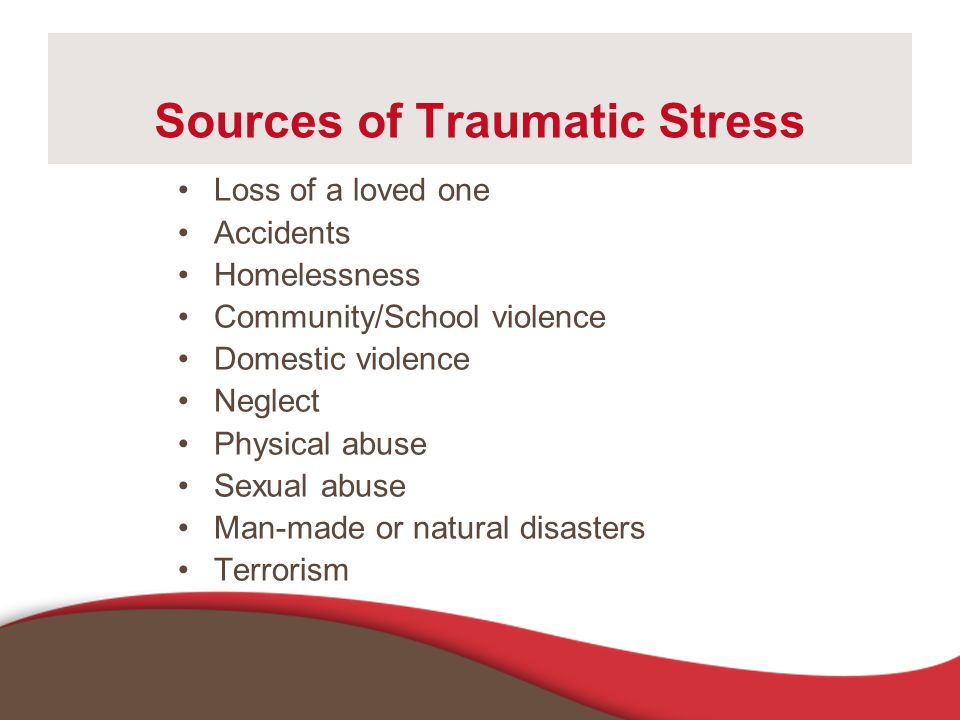 Sources of Traumatic Stress