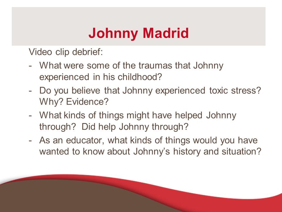 Johnny Madrid Video clip debrief: