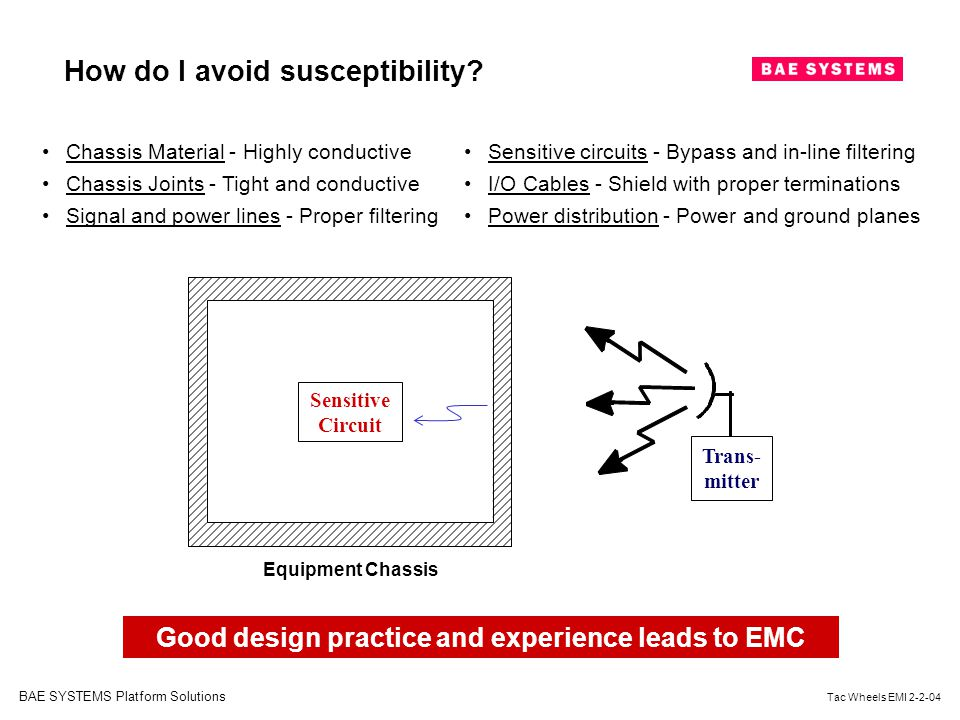 Good design practice and experience leads to EMC