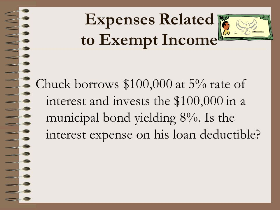 Expenses Related to Exempt Income