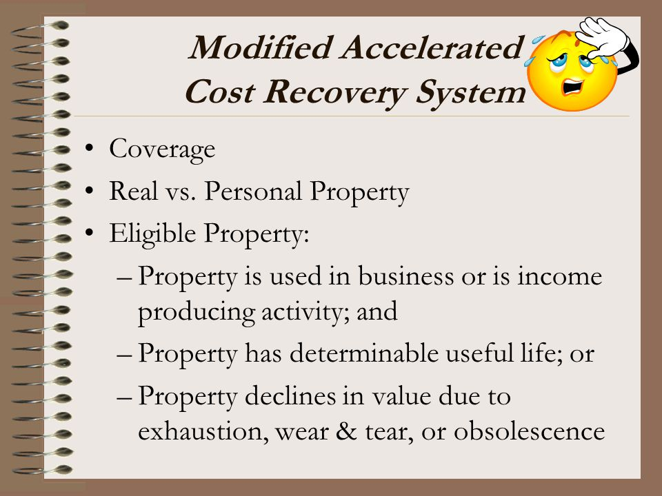 Modified Accelerated Cost Recovery System