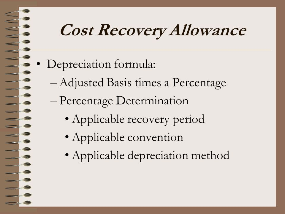 Cost Recovery Allowance