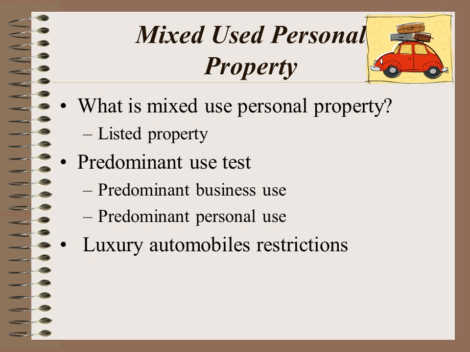 Mixed Used Personal Property