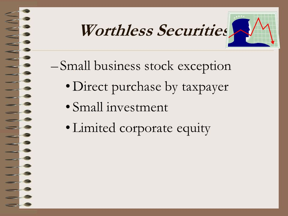 Worthless Securities Small business stock exception