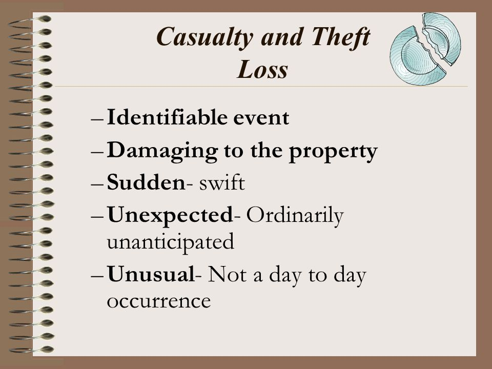 Casualty and Theft Loss