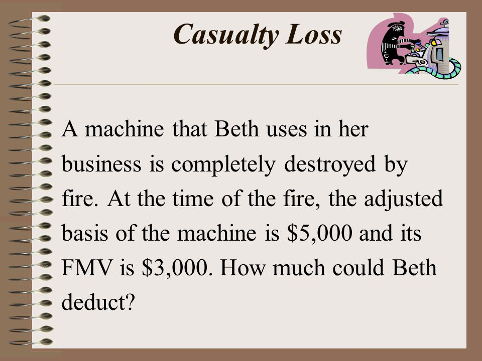Casualty Loss A machine that Beth uses in her