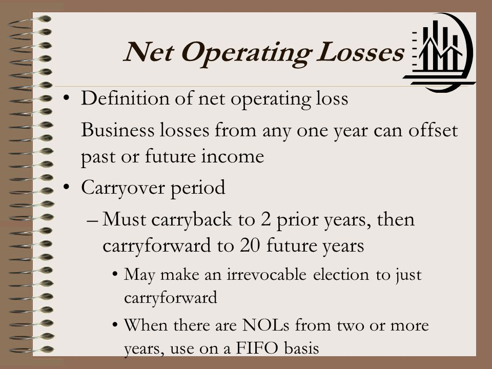 Net Operating Losses Definition of net operating loss