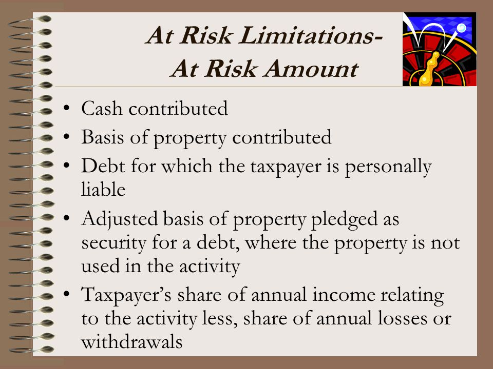 At Risk Limitations- At Risk Amount