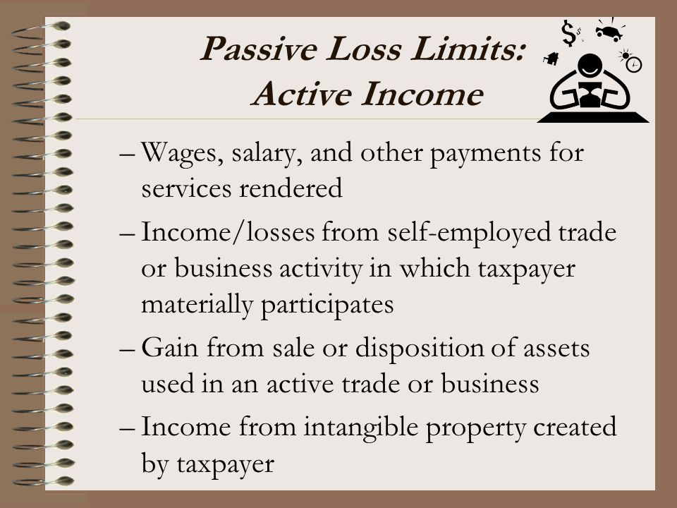 Passive Loss Limits: Active Income
