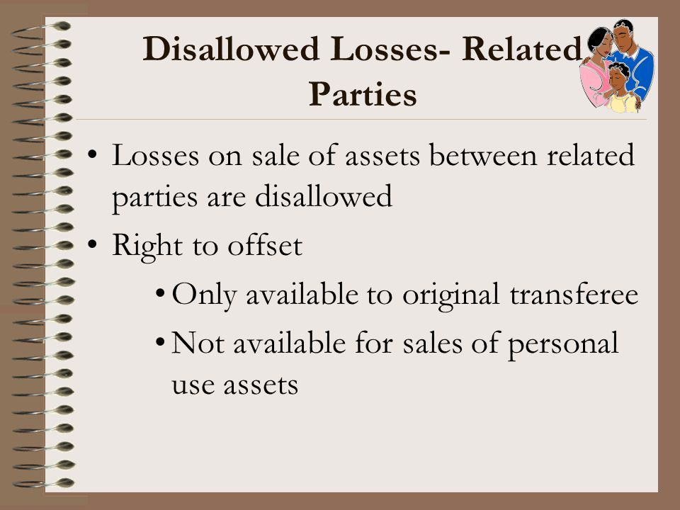 Disallowed Losses- Related Parties