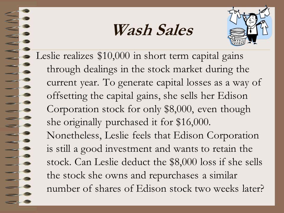 Wash Sales