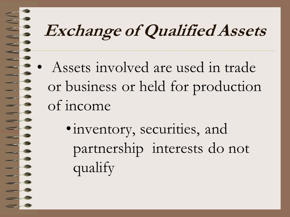 Exchange of Qualified Assets