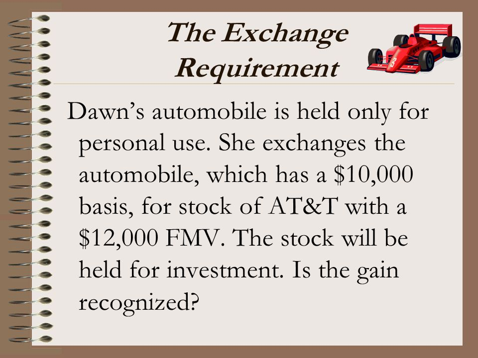 The Exchange Requirement