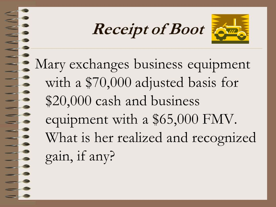 Receipt of Boot