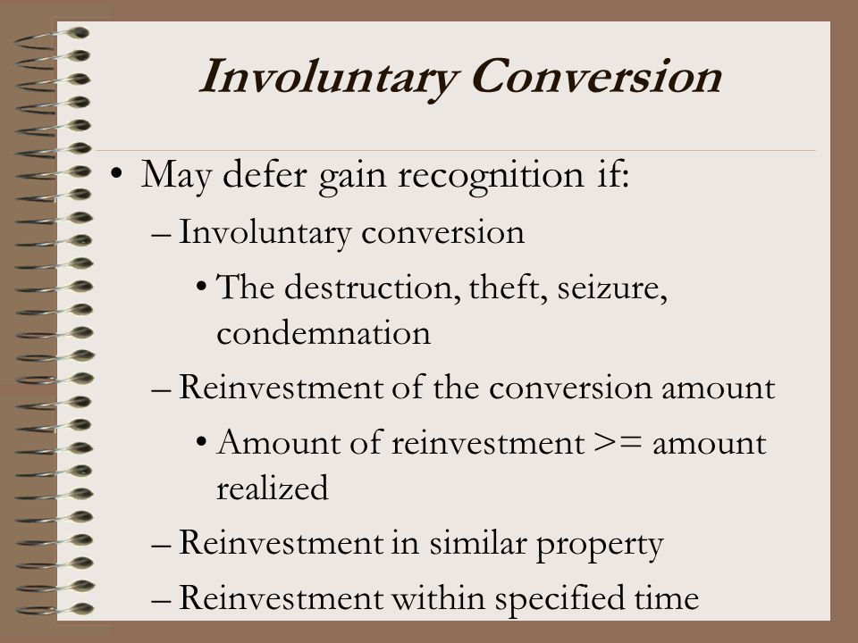 Involuntary Conversion