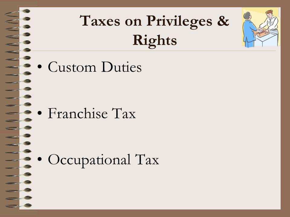 Taxes on Privileges & Rights