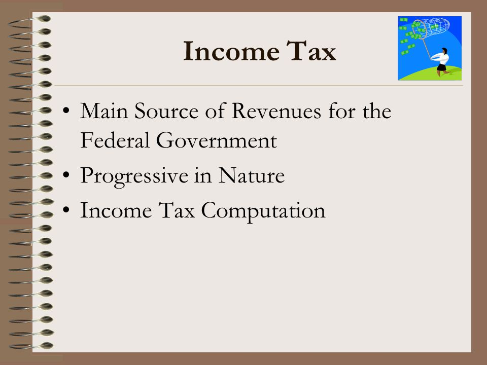 Income Tax Main Source of Revenues for the Federal Government
