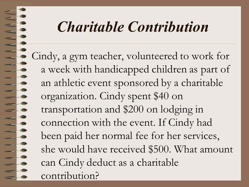 Charitable Contribution