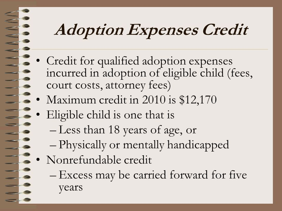 Adoption Expenses Credit