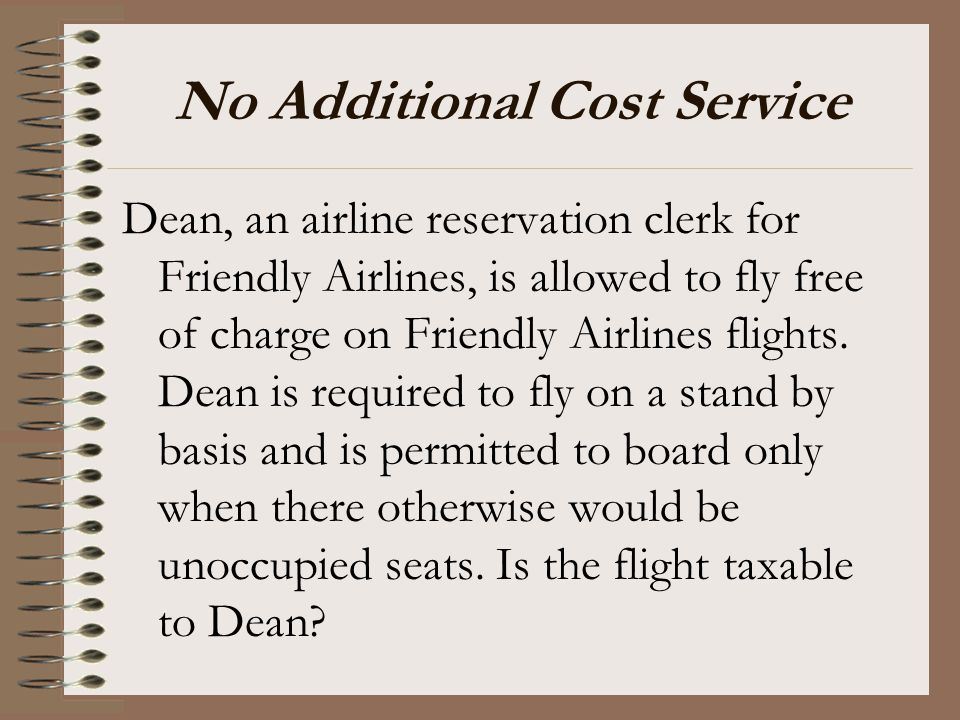 No Additional Cost Service