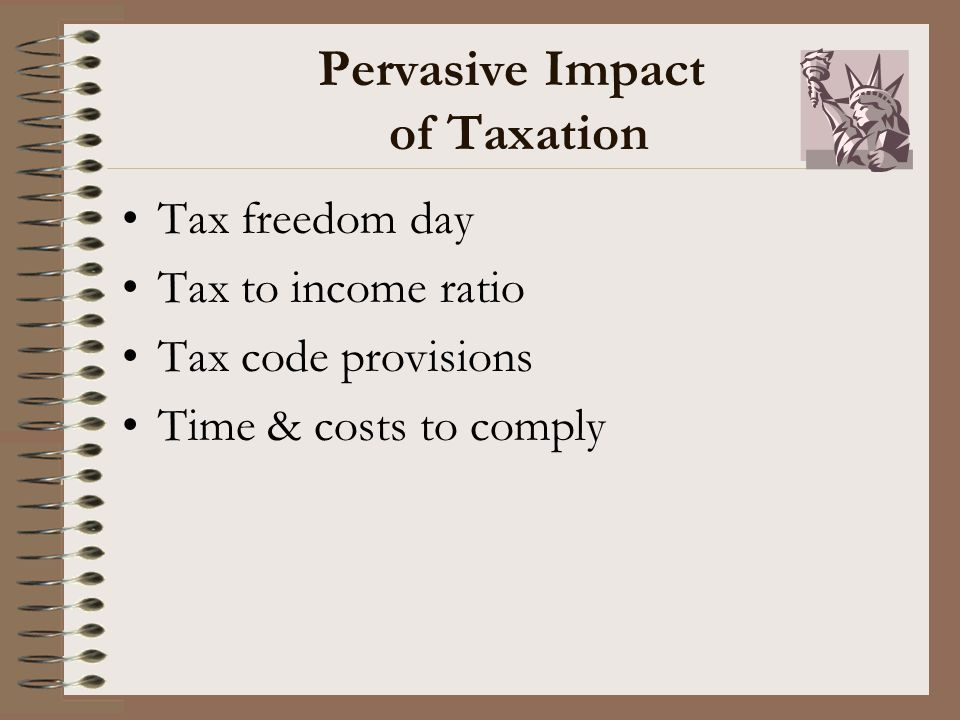 Pervasive Impact of Taxation