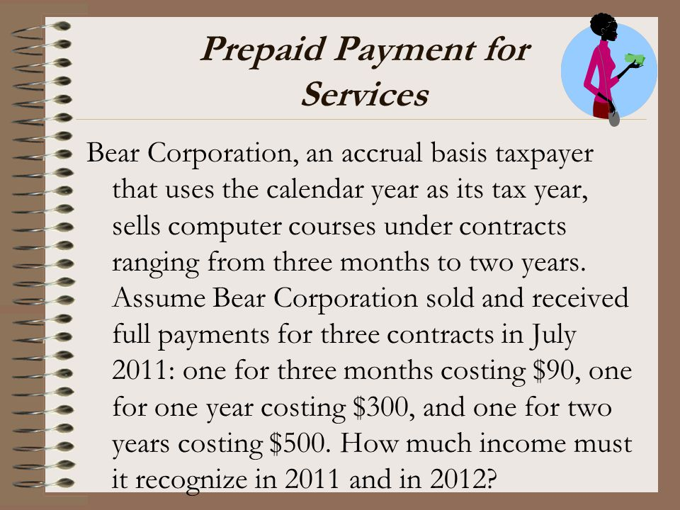 Prepaid Payment for Services