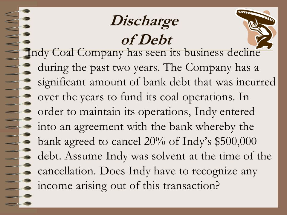 Discharge of Debt