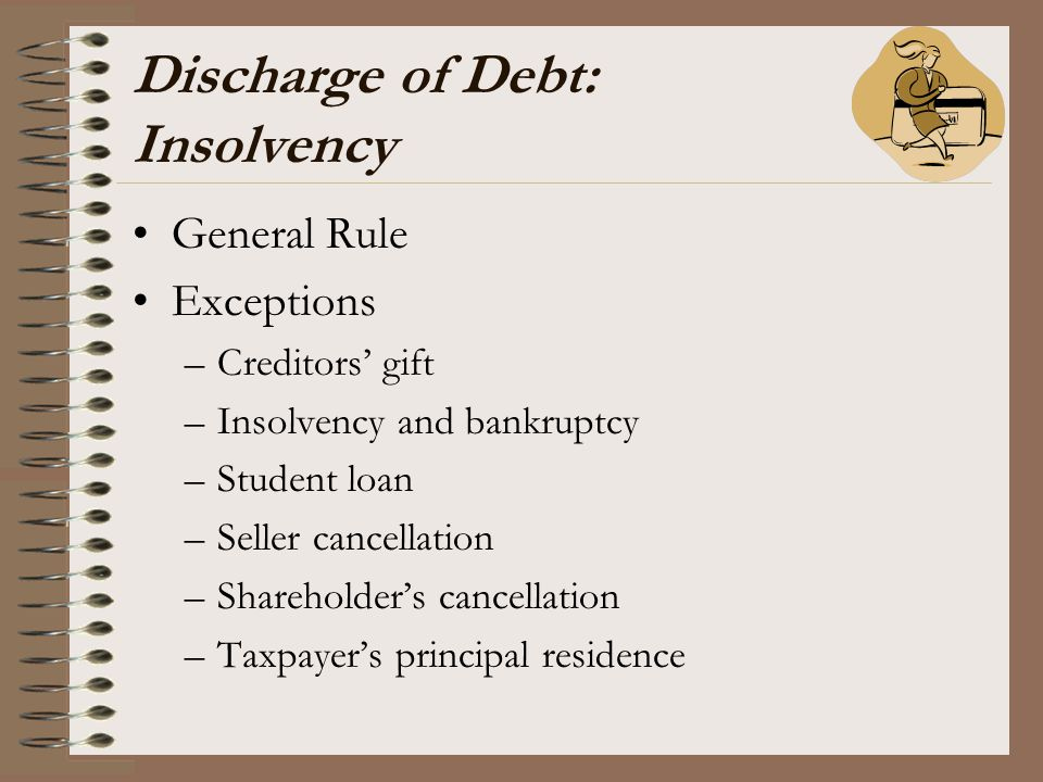 Discharge of Debt: Insolvency