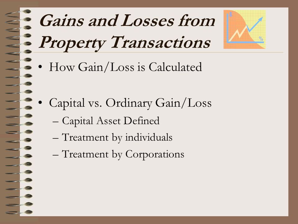 Gains and Losses from Property Transactions
