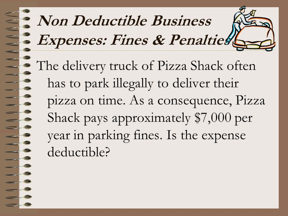 Non Deductible Business Expenses: Fines & Penalties