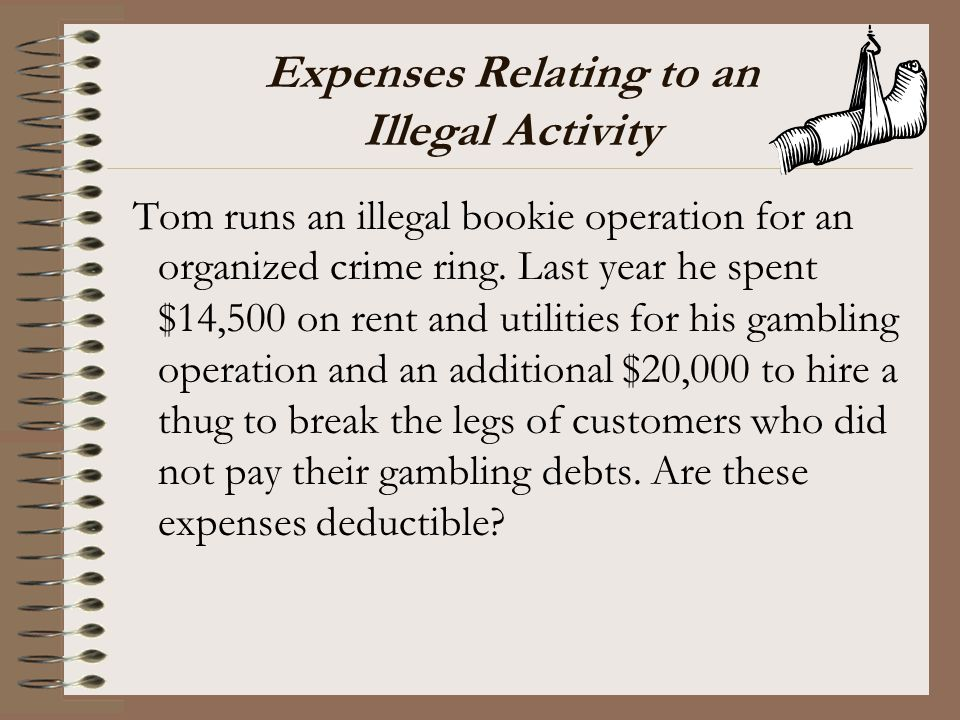 Expenses Relating to an Illegal Activity