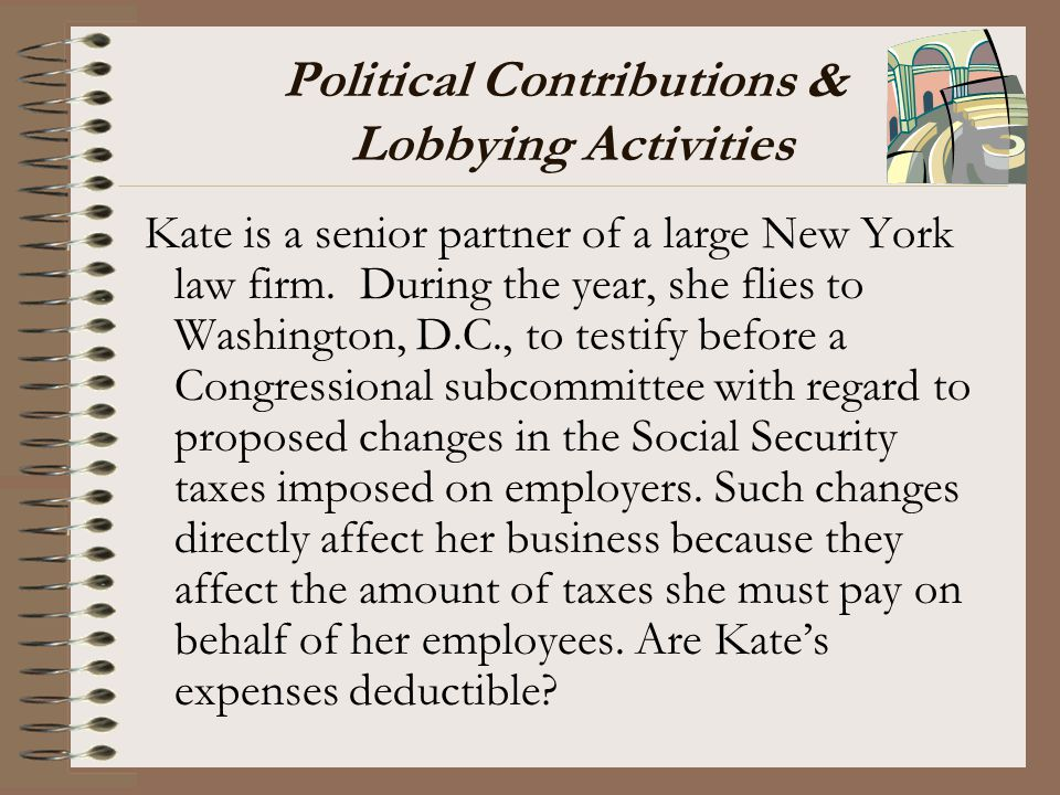 Political Contributions & Lobbying Activities