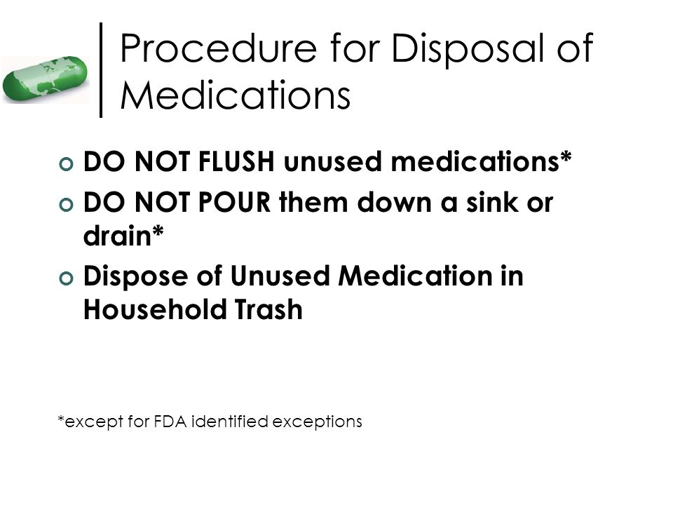 Procedure for Disposal of Medications