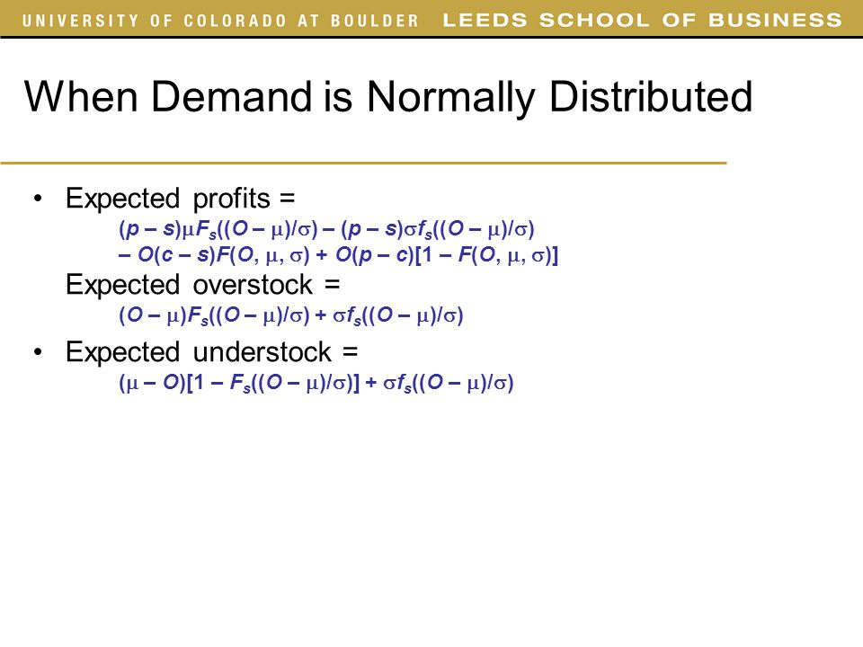 When Demand is Normally Distributed