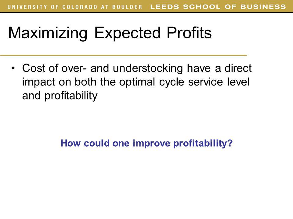 Maximizing Expected Profits
