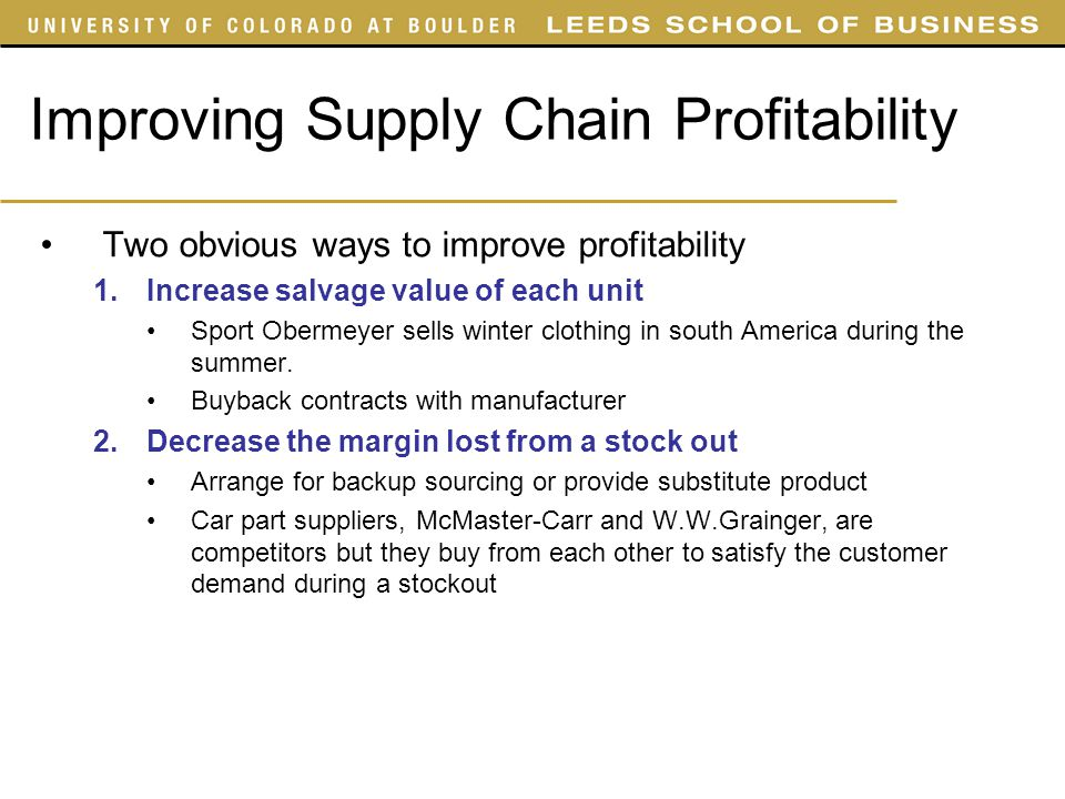 supply chain process sport obermeyer forecasting Sport obermeyer case prof mellie pullman 1 objectives supply chain choices & operations strategy product category challenges operational changes that reduce costs of mismatched supply and demand coordination issues in a global supply chain 2 type of product typical operational.