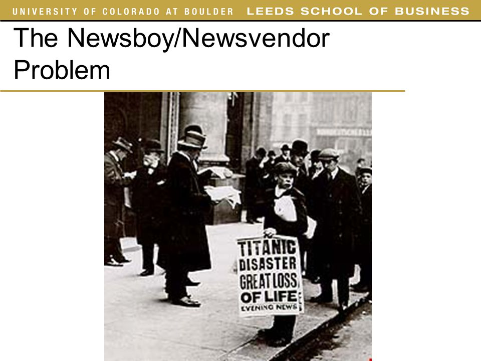 The Newsboy/Newsvendor Problem