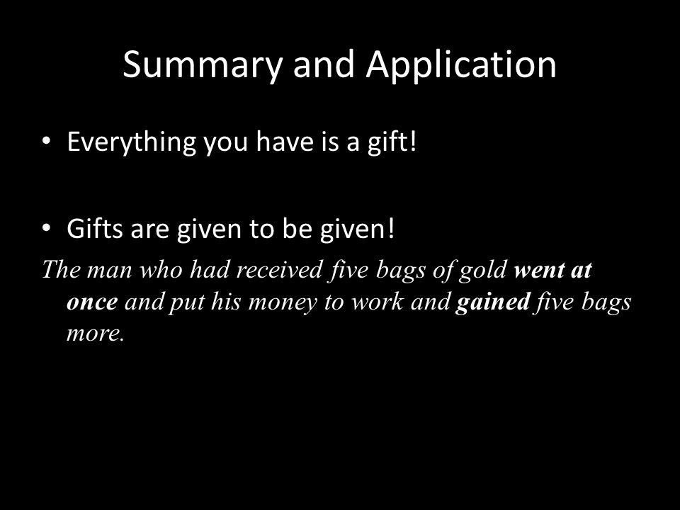 Summary and Application