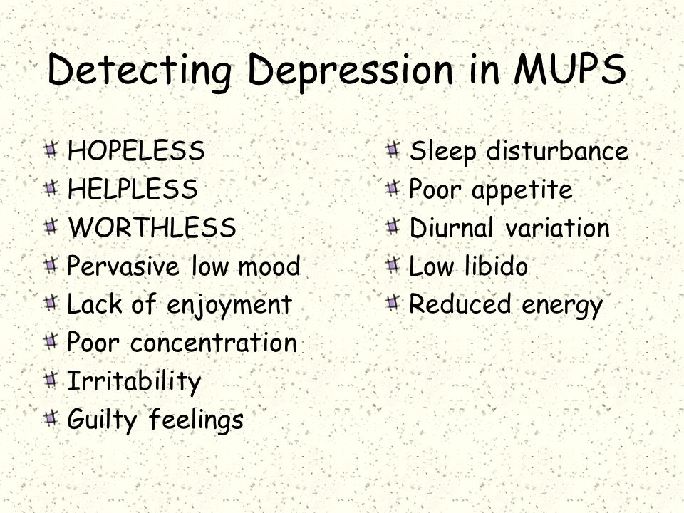 Detecting Depression in MUPS