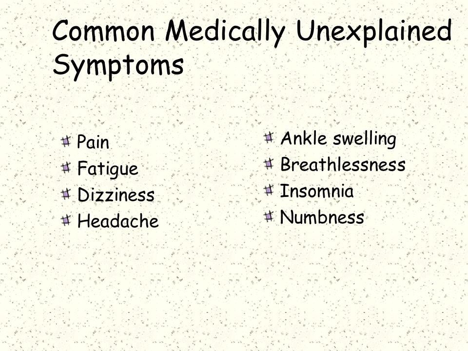 Common Medically Unexplained Symptoms
