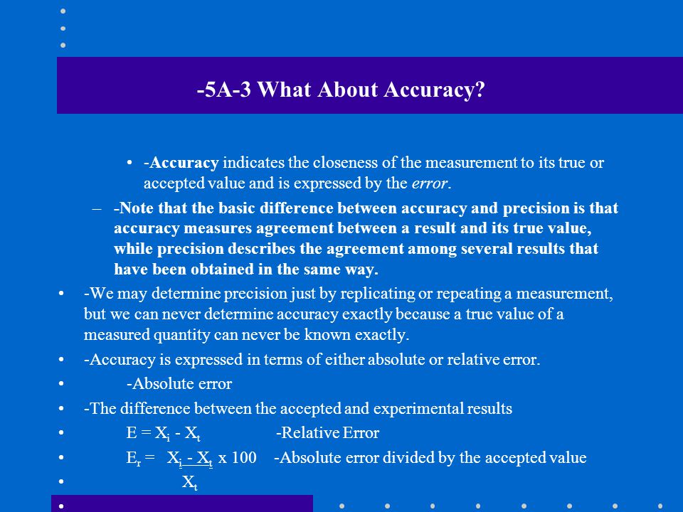 -5A-3 What About Accuracy