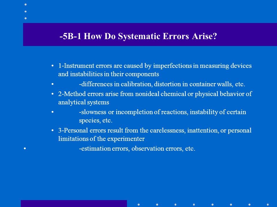 -5B-1 How Do Systematic Errors Arise