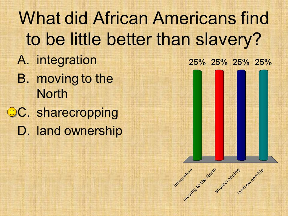What did African Americans find to be little better than slavery