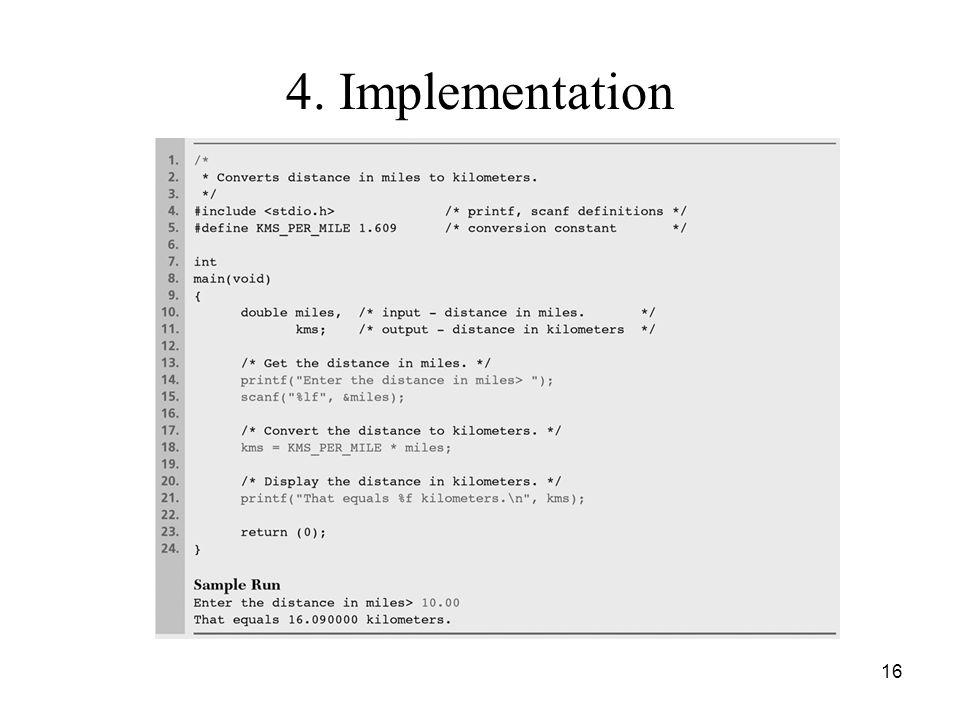 4. Implementation