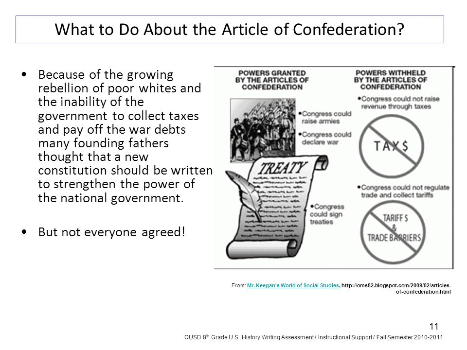 What to Do About the Article of Confederation