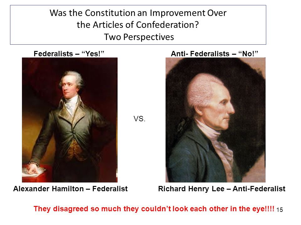 Anti- Federalists – No!