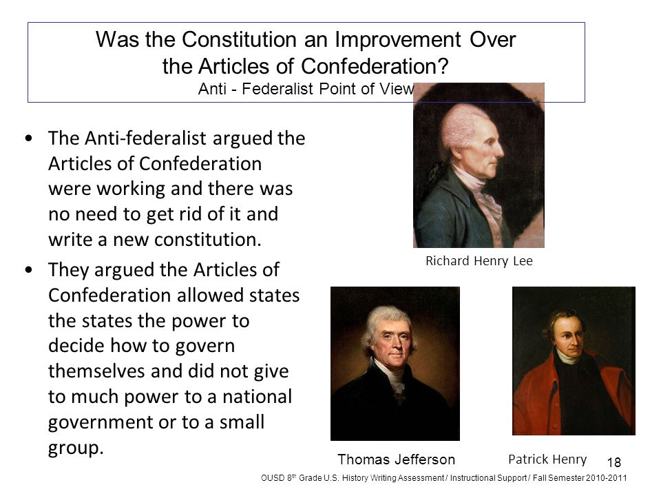 Was the Constitution an Improvement Over