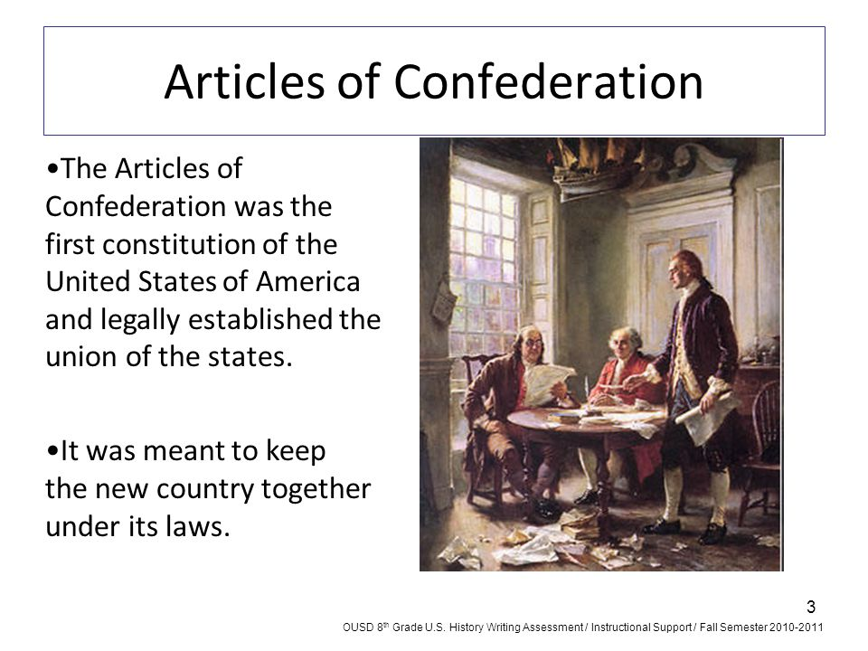 articles of confederation defining the u s The first written constitution of the united states, articles of confederation was written with the intention to bring the original thirteen states under one congress and vested with the powers of maintaining army and international affairs, the power to declare war and coin money.