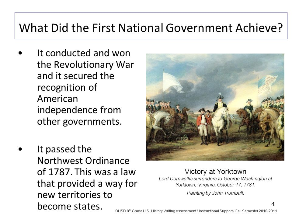 What Did the First National Government Achieve