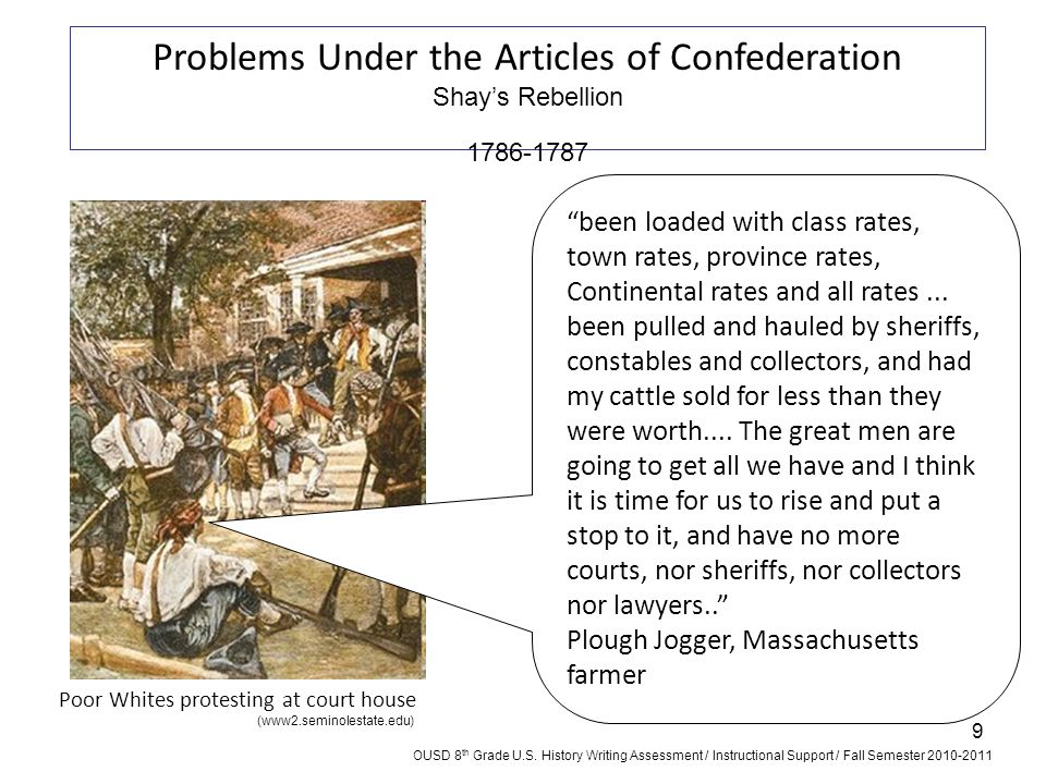Problems Under the Articles of Confederation